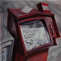 LOS ANGELES NEWSPAPER BOX - Claude-Max Lochu - Artiste Peintre - Paris Painter