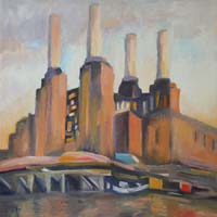 BATTERSEA POWER STATION - Claude-Max Lochu - Artiste Peintre - Paris Painter