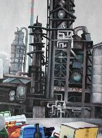 OIL FACTORY FOR SALE - Claude-Max Lochu - Artiste Peintre - Paris Painter
