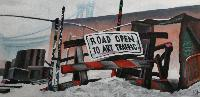 ROAD OPEN TO ART TRAFFIC - 120x60