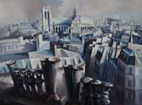 NOTRE DAME DE PARIS - Claude-Max Lochu - Artiste Peintre - Paris Painter