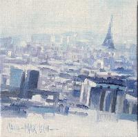 WITH VIEW OF ALL PARIS - Claude-Max Lochu - Artiste Peintre - Paris Painter