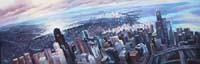 CHICAGO FLYING VIEW - Claude-Max Lochu - Artiste Peintre - Paris Painter