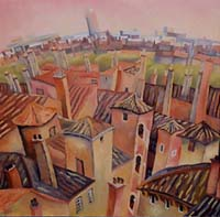 GRAND SURVOL LYONNAIS - Claude-Max Lochu - Artiste Peintre - Paris Painter
