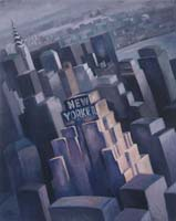 NEW YORKER HOTEL N°1 - Claude-Max Lochu - Artiste Peintre - Paris Painter