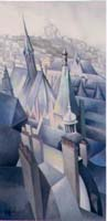 PARIS EN BLEU N°2 - Claude-Max Lochu - Artiste Peintre - Paris Painter