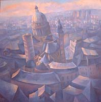 PARIS EN BLEU - Claude-Max Lochu - Artiste Peintre - Paris Painter