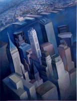 WALL STREET FROM THE TWINS - Claude-Max Lochu - Artiste Peintre - Paris Painter