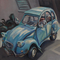 2CV CITROEN 74 - Claude-Max Lochu - Artiste Peintre - Paris Painter