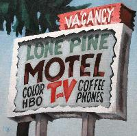 LONE PINE MOTEL - Claude-Max Lochu - Artiste Peintre - Paris Painter