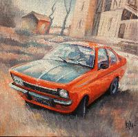 OPEL KADETT COUPE 74 - Claude-Max Lochu - Artiste Peintre - Paris Painter