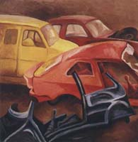 AUTO-IMMOBILES N°1 - Claude-Max Lochu - Artiste Peintre - Paris Painter