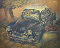 LA SIMCA ETOILE - Claude-Max Lochu - Artiste Peintre - Paris Painter