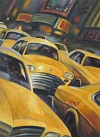 YELLOW TRAFFIC - Claude-Max Lochu - Artiste Peintre - Paris Painter
